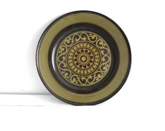 Vintage Mikasa Serving Plate - Mid Century Ceramic Platter - 1970's Green Pottery