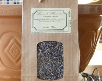 Edible dried lavender for cooking 2oz / 60g
