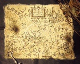 Harry Potter Secret Map Print