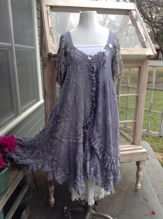boho gypsy crochet dress by luv lucy