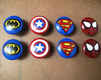 Superhero Knobs Etsy