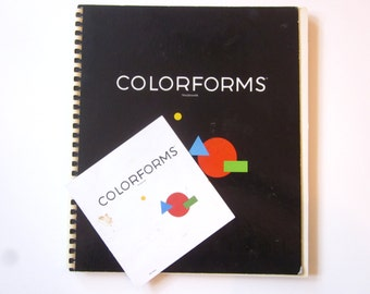 Vintage MOMA Colorforms art book, mid century interactive art book , MOMA art book