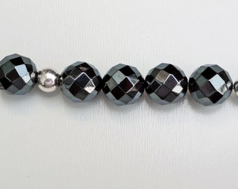 Hematite Dog Lover's Key Chain