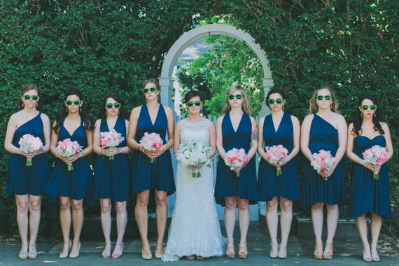 Twist Wrap Bridesmaid Dress
