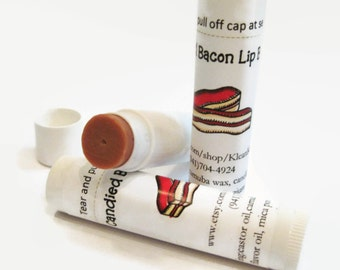 Candied Bacon Lip Balm, NEW LOWER PRICE,  bacon, food lip balm, bacon balm, men' balm. sweet bacon,