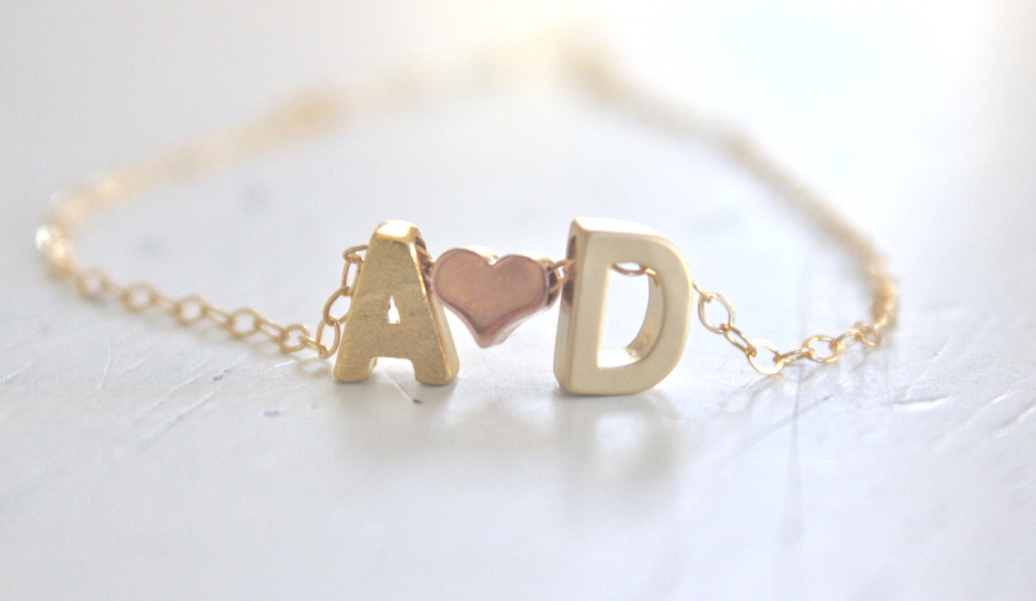 Anniversary Gift Gold Necklace Couples Necklace Personalized
