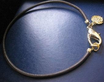 Allah bracelet, leather bracelet, gold Allah bracelet,  Allah Jewelry, Allah charm, Allah pendant, Allah pendant bracelet, leather jewelry