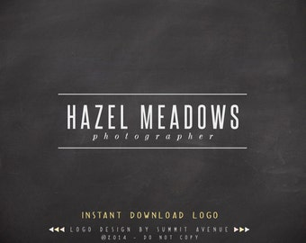 DIY - Hazel Modern Premade Logo Design for Photography or Boutique INSTANT DOWNLOAD