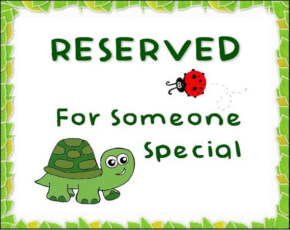 Reserved for Jana
