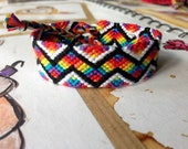 Rainbow zig zag friendship bracelet