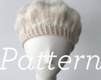 Knit Hat Pattern // Meringue Hat - PATTERN ONLY - PDF