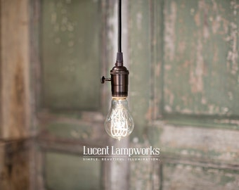 Simple Pendant Fixture - Exposed Bulb Style