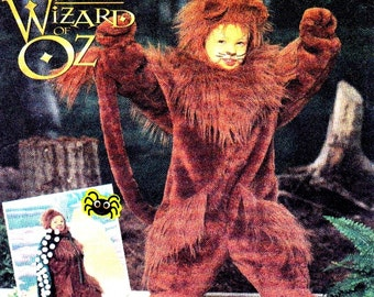 Simplicity 7825 Wizard Of Oz Cowardly Lion Child's Costume Sizes 3-4-5-6-7-8 Uncut Pattern- 5