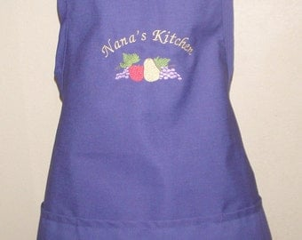 Women's Kitchen Chef Apron Fruit Design Personalized Free