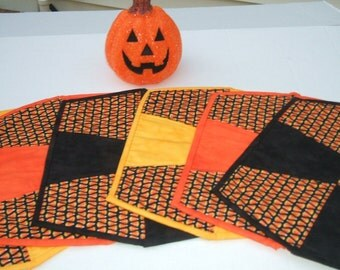Sale Candy Corn Placemats-Set of 6-Free Shipping to US and Canada