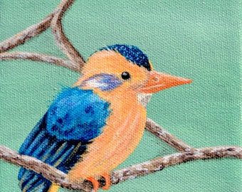 Tropical Bird Print 4 by 4