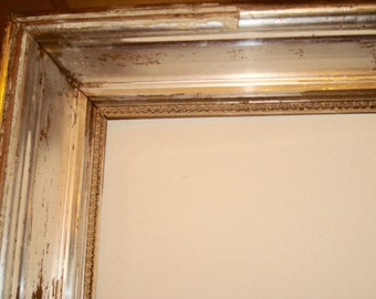 1880s Silver Gilt Wood Frame Large 31 x 19 inches