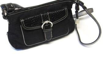 Black Purse Handbag Buckle Shoulderbag