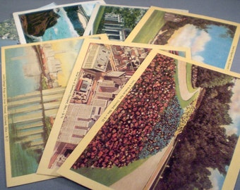 Vintage Mid Century Postcards Ephemera Midwest Canada Niagara Falls Cincinnati Travel Souvenirs