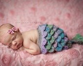 Mermaid Cape and Headband Set / Newborn Prop/ COMPLIMENTARY SHIPPING