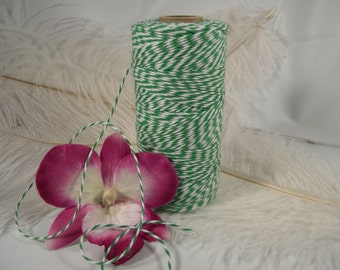 Bakers Twine, Green, Tag String, 4 Ply 240 yard spool, Twine, Craft Supplies, Gift Wrap Idea, Packaging