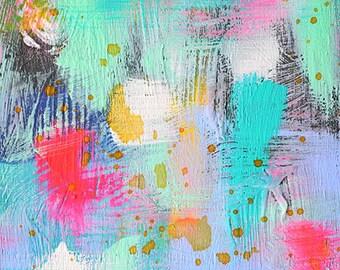 Hidden - Original 6x8 abstract painting