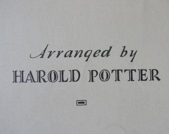 The Letter Edged in Black arranged by Harold Potter