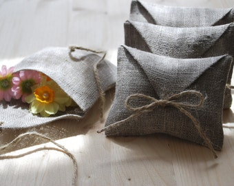 Linen favor / gift  envelope style bags.  Set of 100. Size : 4 1/5 inch x  3 1/2 inch