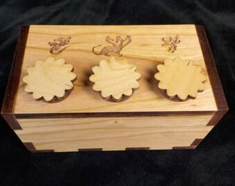 Secret Lock Puzzle Box - The Dragon Box - Puzzle Box - Secret Stash Box - Wood Puzzle Box