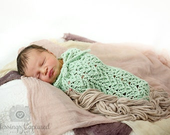 Crochet Pattern for Arrowhead Swaddle Sack or Cocoon - preemie to 3-6 months - Welcome to sell finished items