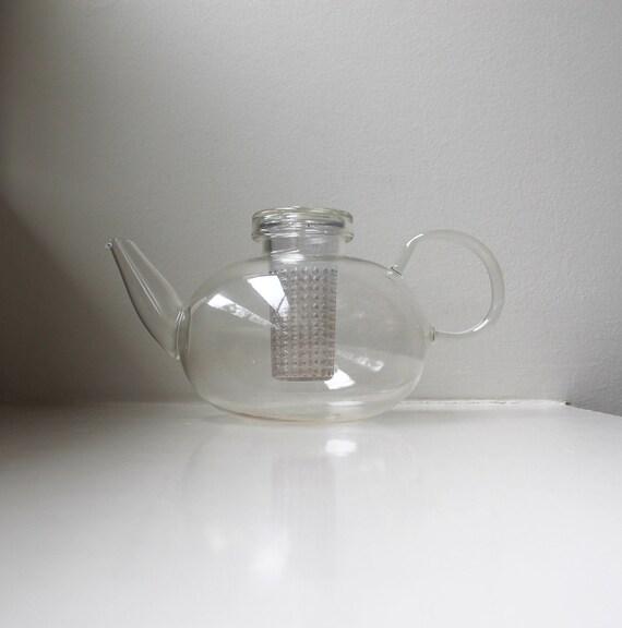 vintage verre moderne th i re bodum moderniste allemagne jena. Black Bedroom Furniture Sets. Home Design Ideas