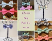 Boy Bow Tie - Pick Any TaLula Knits Bow Tie - Wedding Accessory