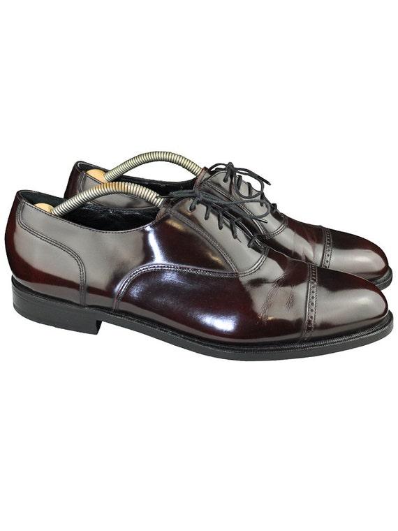 oxblood florsheim oxford cap toe s dress shoes size 12