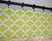 Kitchen Curtain Kitchen Valance Modern Window Curtains  52x12 52x14 52X16 52X18