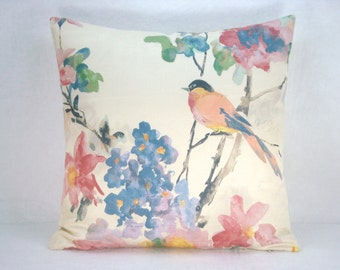 Decorative Modern Accent Pillow Bird Pillow 18x18 Pillow Cover