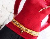 Rattlesnake spirit    Leather waist belt with branded designs  hand sewn  rattlesnake
