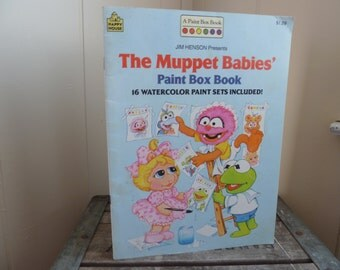 Use CODE50 for 50% OFF Vintage Muppet Babies Paint Box Book, 1987, Unused
