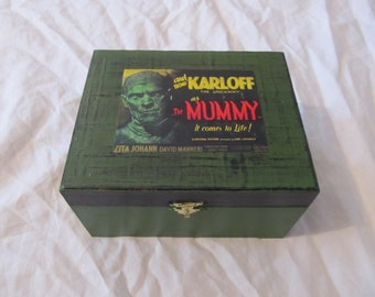 The Mummy Classic Horror Creepy Green & Black Keepsake Box