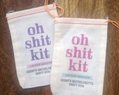 4x6 Mini Muslin Bags for Bachelorette Kits - Oh Sh!t Kit