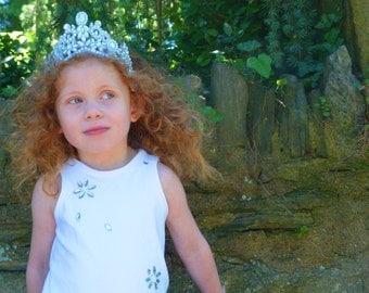 Tiara Headband- The Catherine Tiara- Princess Crown,1st Birthday crown, baby tiara, girls tiara, baby hair, princess tiara