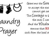 Vinyl Wall Decal Laundry Prayer Serenity Prayer Laundry Room