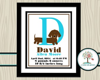 Nursery Name Art, Personalized Nursery Art, Birth Announcement, Birth Statistics, Nursery Wall Art, Nursery Decor, Birth Stats, Letter Art
