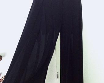 Wide Leg Sheer Pants
