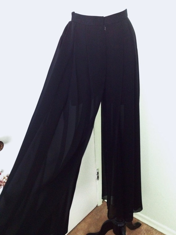 Wide Leg Sheer Pants