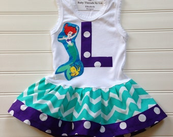 Girls Custom Boutique Dress Girls Mermaid Dress Girls Dress Mermaid Dress Girls Clothing Sizes 12 months through Size 6/8