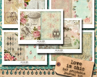 Love Is Chic - Printable Journal Kit