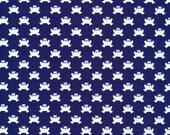 Lotus Pond Hopping Along in Navy, Rae Hoekstra, 100% GOTS-Certified Organic Cotton, Cloud9 Fabrics