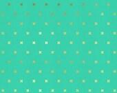 XOXO in Toy Boat Gold Metallic, Cotton+Steel Basics, Rashida Coleman Hale, RJR Fabrics, 100% Cotton Fabric, 5001-009