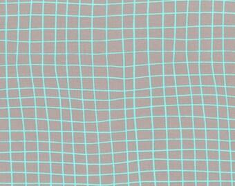 Moonlit On the Grid in Mint, Rashida Coleman Hale, Cotton+Steel, RJR Fabrics, 100% Cotton Fabric, 1905-001