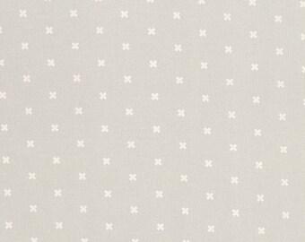 XOXO in Ghost, Cotton+Steel Basics, Rashida Coleman Hale, RJR Fabrics, 100% Cotton Fabric, 5001-001